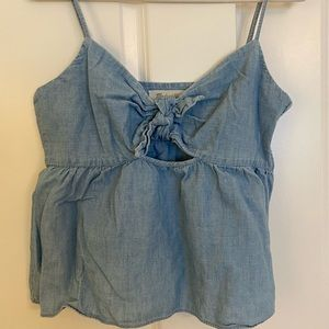 Size 12, Cutout Jean Madewell Top
